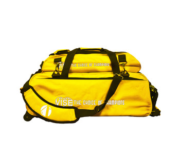 Vise 3 Ball Tote Roller with Shoe Pouch Yellow