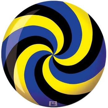Brunswick Viz-A-Ball Spiral Black/Blue/Yellow Bowling Ball