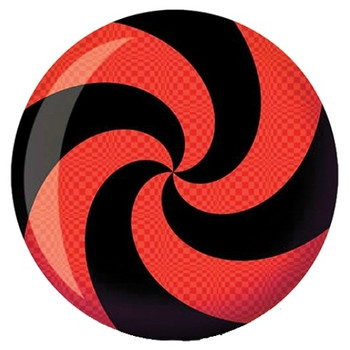 Brunswick Viz-A-Ball Spiral Red/Black Bowling Ball