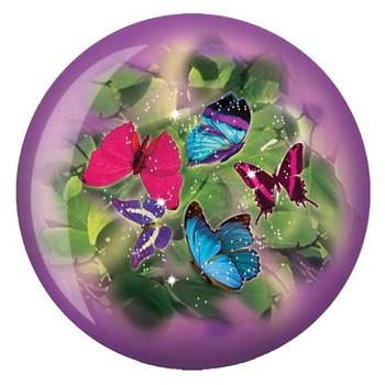 Brunswick Viz-A-Ball Butterflies Glow Bowling Ball front