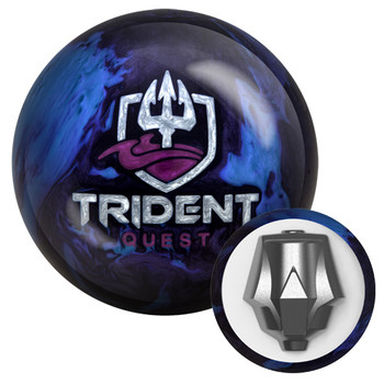 Motiv Trident Quest Bowling Ball with core design