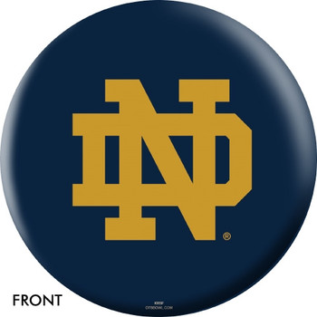 OTBB Notre Dame Fighting Irish Bowling Ball front