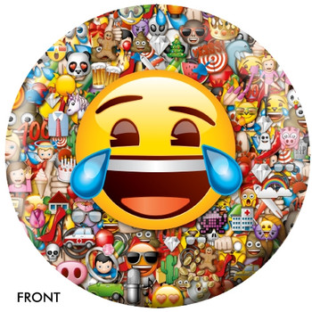 OTBB Emoji Laugh-Cry Bowling Ball front
