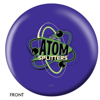 OTTB Silver Lake Atom Splitters Bowling Ball front