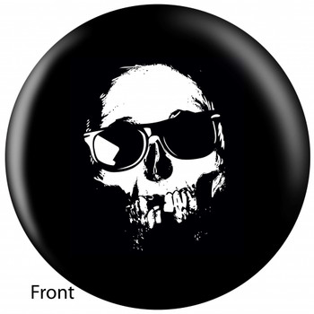 OTBB Cool Skull Bowling Ball front