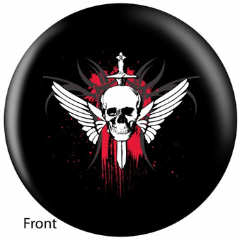 OTBB Winged Skull Bowling Ball front