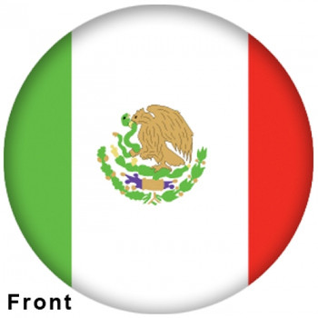 OTBB Mexican Flag Bowling Ball front