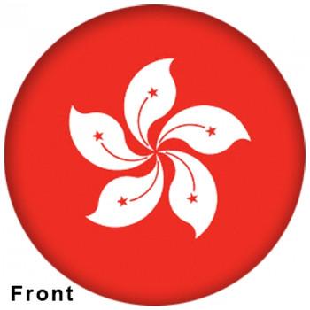 OTBB Hong Kong Flag Bowling Ball front