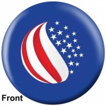 OTBB American Flag Bowling Ball front