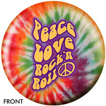 OTBB Peace Love and Rock n Roll Bowling Ball front