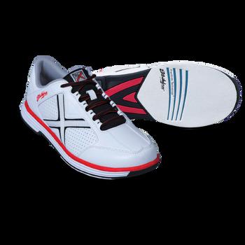 KR Strikeforce Men's Ranger Bowling Shoes White/Black/Red setup