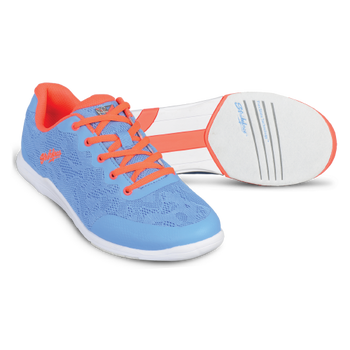 KR Strikeforce Womens Lace Bowling Shoes Sky/Coral