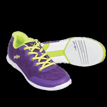 KR Strikeforce Womens Lace Bowling Shoes Purple/Yellow
