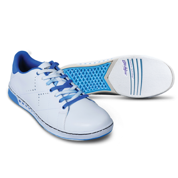 KR Strikeforce Womens Gem Bowling Shoes White/Blue Wide