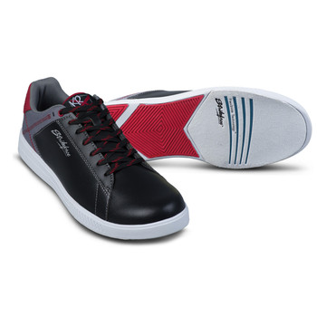 KR Strikeforce Atlas Mens Bowling Shoes Black/Grey/Red setup