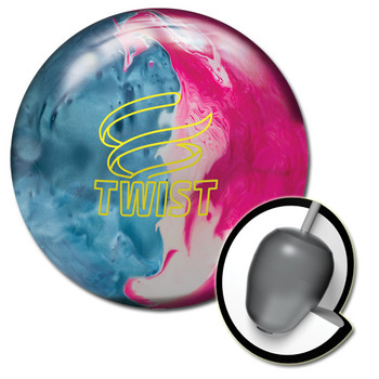 Brunswick Twist Bowling Ball Sky Blue/Pink/Snow