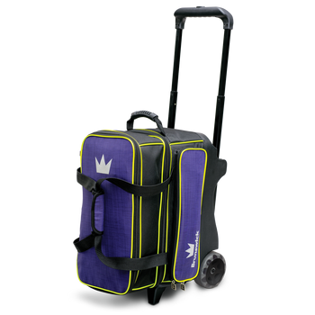 Brunswick Crown Deluxe Double Roller Bowling Bag - Purple/Yellow