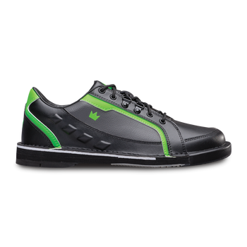 Brunswick Punisher Mens Bowling Shoes Black/Neon Green Right Handed