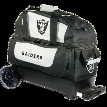 KR Strikeforce NFL Oakland Raiders 2 Ball Roller Bowling Bag
