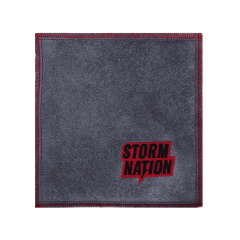 Storm Nation Shammy - Grey/Red Stitching