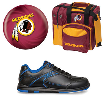 Washington Redskins Ball, Bag and Shoes Mens Package