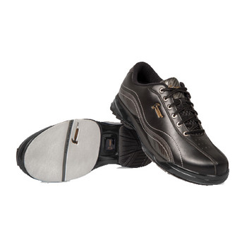 Hammer Force Mens Bowling Shoes Black/Carbon Right Handed - pair - showing slide sole