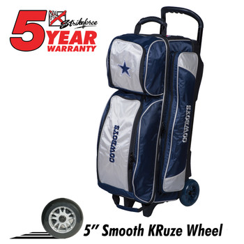 KR Strikeforce NFL Dallas Cowboys Triple Roller Bowling Bag