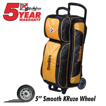 KR Strikeforce NFL Pittsburgh Steelers Triple Roller Bowling Bag