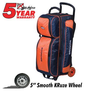 KR Strikeforce NFL Denver Broncos Triple Roller Bowling Bag