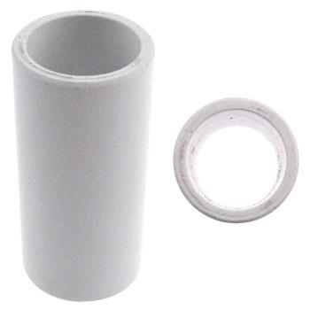 Turbo 2-N-1 Xcel Round Vinyl Thumb Sleeve - White