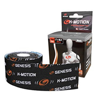 Genesis K-Motion Tape - Black - 16.4 Ft Roll