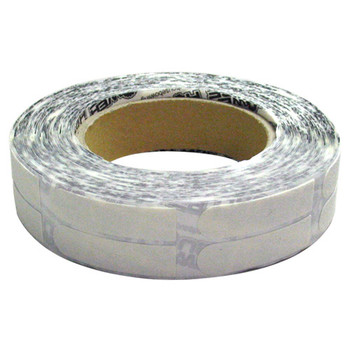 "PowerHouse Premium White Textured 1/2"" Bowling Tape - 500 Roll"