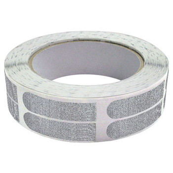 "The Real Bowler's Tape Silver Textured 1/2"" Bowling Tape - 500 Piece Roll"