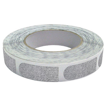 "The Real Bowler's Tape Silver Textured 3/4"" Bowling Tape - 100 Piece Roll"