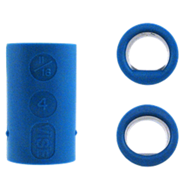 Vise Power Lift & Oval Bowling Ball Grips - Blue