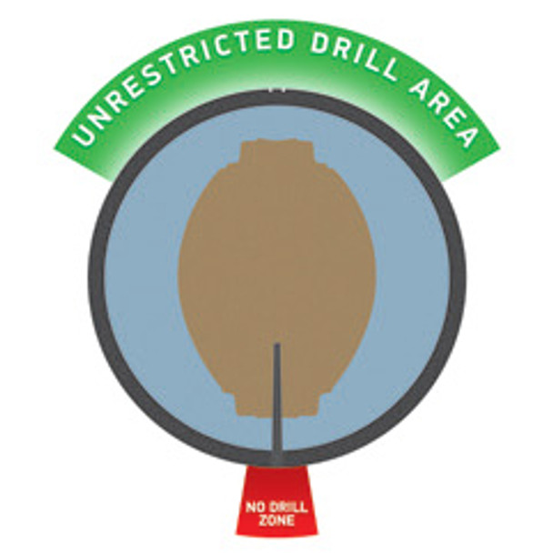 Brunswick Fearless Bowling Ball unrestricted drill area