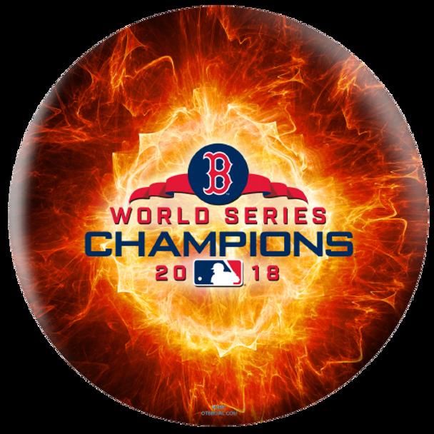 OTBB Boston Red Sox Bowling Ball 2018 World Series Bowling Ball front