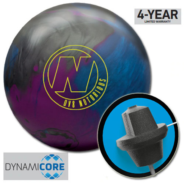 DV8 Notorious Bowling Ball and Core
