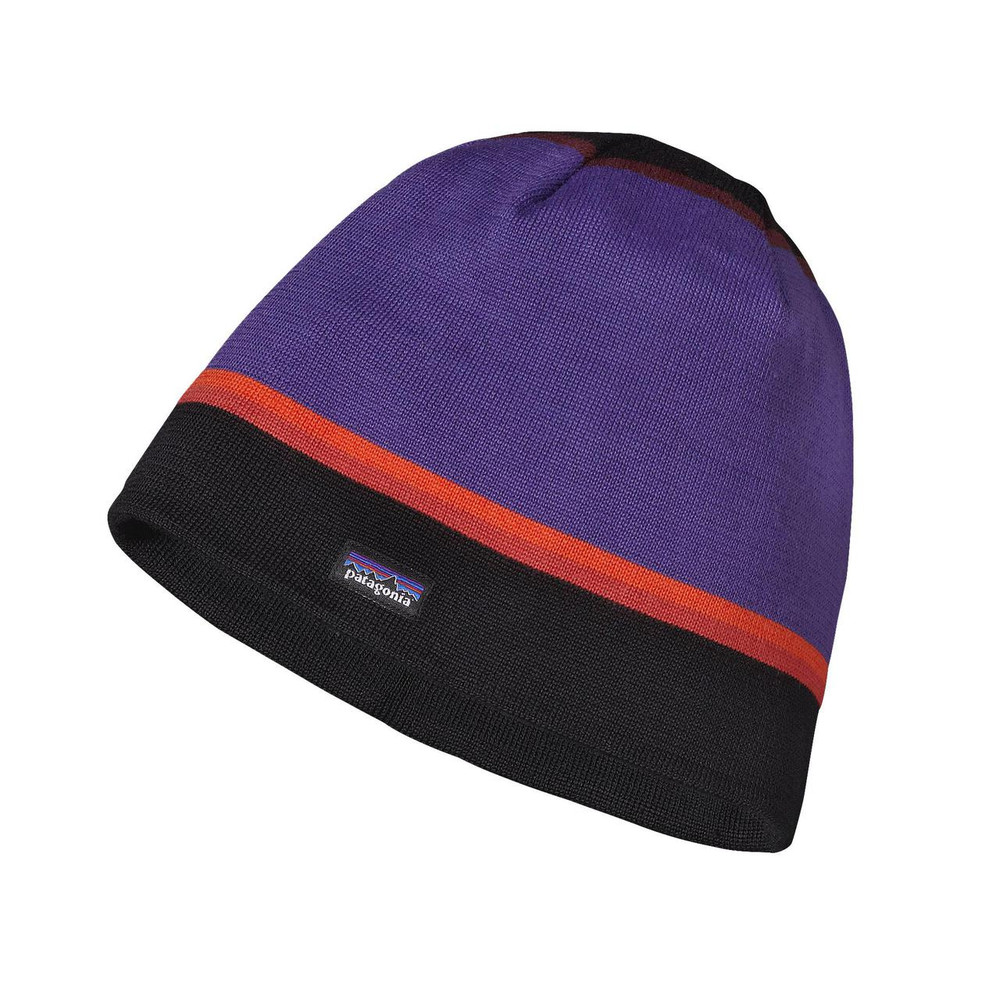 Patagonia Beanie Hat in Coastline Stripe:  Black
