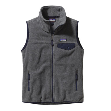 Patagonia Women's Snap-T® Vest in Nickel with Navy Blue