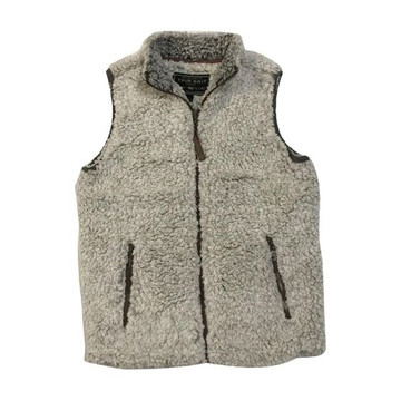 True Grit Frosty Tipped Pile Vest in Brown