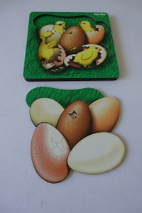 Chicken and egg double layer puzzle 21 pce