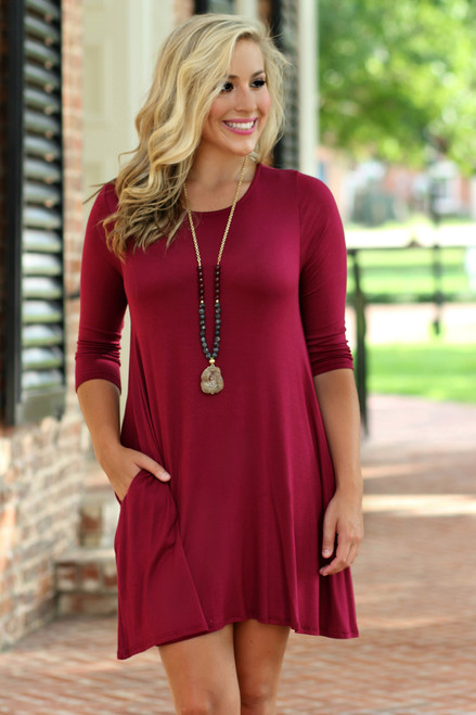 Fall Favorite Dress: Burgundy