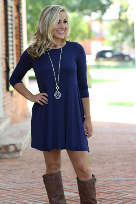 Fall Favorite Dress: Navy