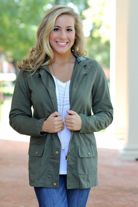 One Step Closer Jacket: Olive