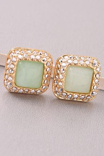 Mint For You Stud Earrings: Mint