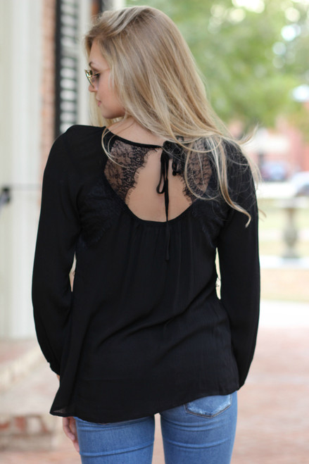 Walk This Way Top: Black