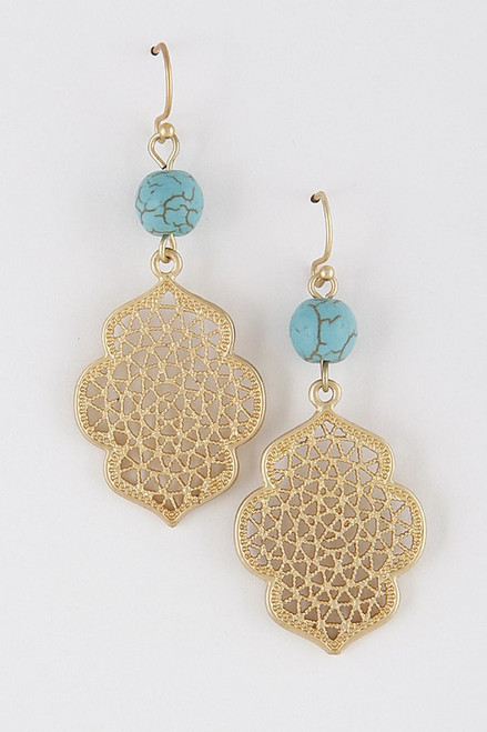 Drops Of Jupiter Earrings: Turquoise