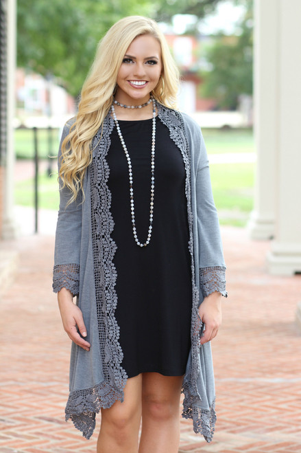 Sway On By Cardigan: Charcoal
