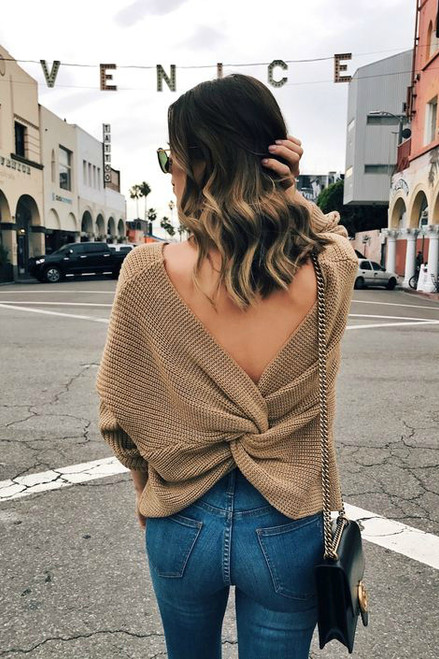 Twist Sweater: Toffee